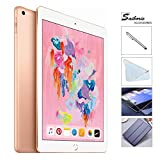Apple iPad 6th Gen 32GB 2018 Newest with Saiborie 49 Value Accessories, Wi-Fi Only, 9.7'' Retina Display, 2GB RAM, A10 Fusion chip, Touch ID, Apple Pay, Night Shift (Gold)