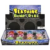 Rhode Island Novelty Flashing LED Bumpy Ring (24-Pack)