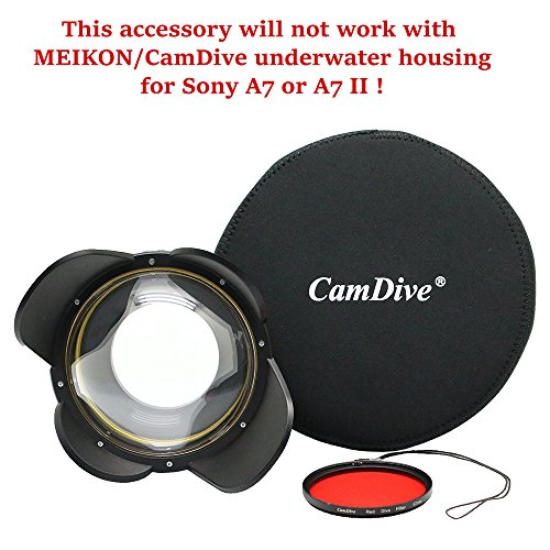 CamDive Wide Angle Wet Correctional Dome Port Lens for Underwater Housings (67mm Round Adapter)