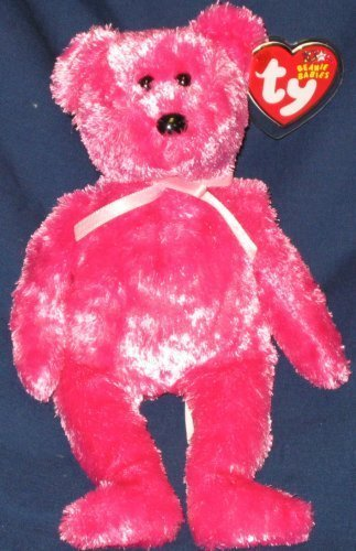 TY Beanie Baby - SHERBET the Bear (Raspberry (Raspberry Tag)