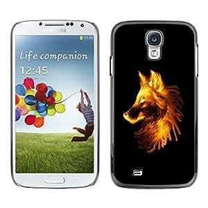 "For Samsung Galaxy S4 , S-type Flaming Lobo"" - Arte & diseño plástico duro Fundas Cover Cubre Hard Case Cover"