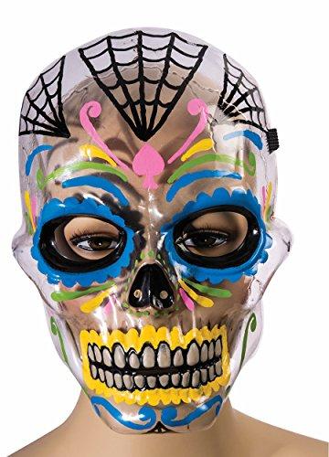 Forum Novelties Men's Mask-Dod-Transparent, Multi Color, Standard ()