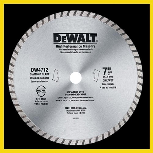 DEWALT DW4712B 7-Inch High Performance Diamond Masonry Blade - Granite Diamond Blade