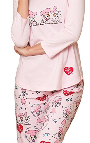 PajamaGram Exclusively Licensed: I Love Lucy PJs for Women, Pink, LRG (12-14) by PajamaGram (Image #5)