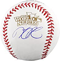 Dustin Pedroia Boston Red Sox 2013 World Series Champions Autographed World Series Logo Baseball - Fanatics Authentic Certified