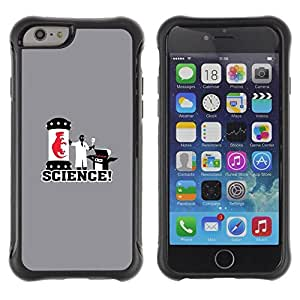 LASTONE PHONE CASE / Suave Silicona Caso Carcasa de Caucho Funda para Apple Iphone 6 PLUS 5.5 / Embryo Dinosaur Laboratory White