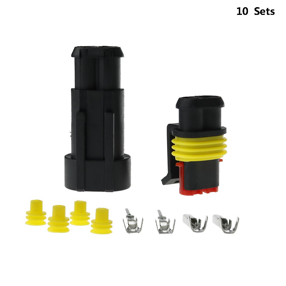Ecloud Shop 10 KIT 2 VIE CONNETTORE STAGNO 1, 5mm PER AUTO MOTO BARCA YRH40