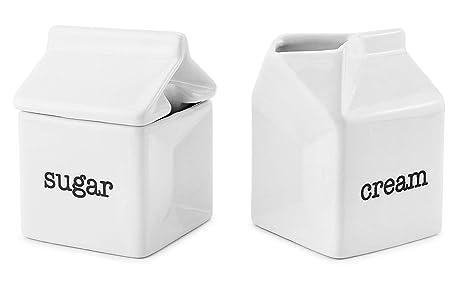 Amazon.com: Darware - Juego de azucarero y crema, jarra de ...