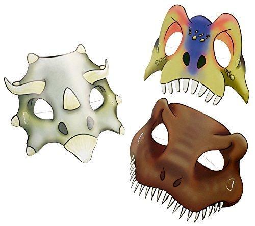 máscaras del partido Dinosaurio Ataque 8 Pieza: Amazon.es: Juguetes y juegos