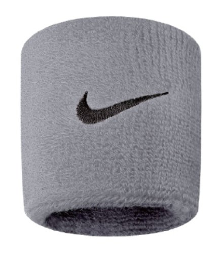 Nike Swoosh Wristbands (Grey Heather/Black, Osfm)