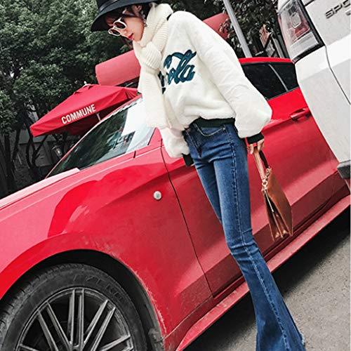 E Slim Blu Jeans Larga Vita Gamba Donna Rxf colore Alta Dimensioni A 30 Blu wX8addxv