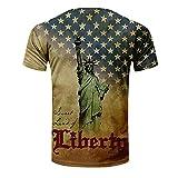 Mens Patriotic T-Shirts American USA Flag Halloween