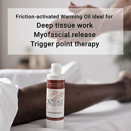 Prossage-Heat-Warming-Relief-Massage-Oil-for-Therapuetic-Massages-Deep-Tissue-Massages-and-Aromatherapy-Topical-Pain-Reliever-for-Soft-Tissue-Mobilization-Muscle-Pain-Relief-8-Ounce-Bottle