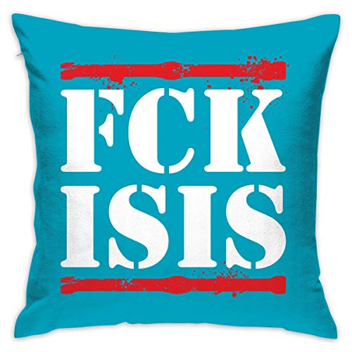 ANGEL P Fuck Isis Throw Pillow Cover, Daily Decorative Throw Pillows Cases Sofa Bed Car Indoor Outdoor Home Decor 18x18 Inch 45x45 -