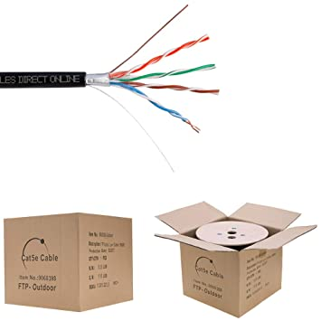Cables Direct Online CAT5e 1000FT Shielded Outdoor 24 AWG 350MHz Cable on