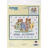 Janlynn 021-1785 Tedd Baby Birth Announcement Cross Stitch