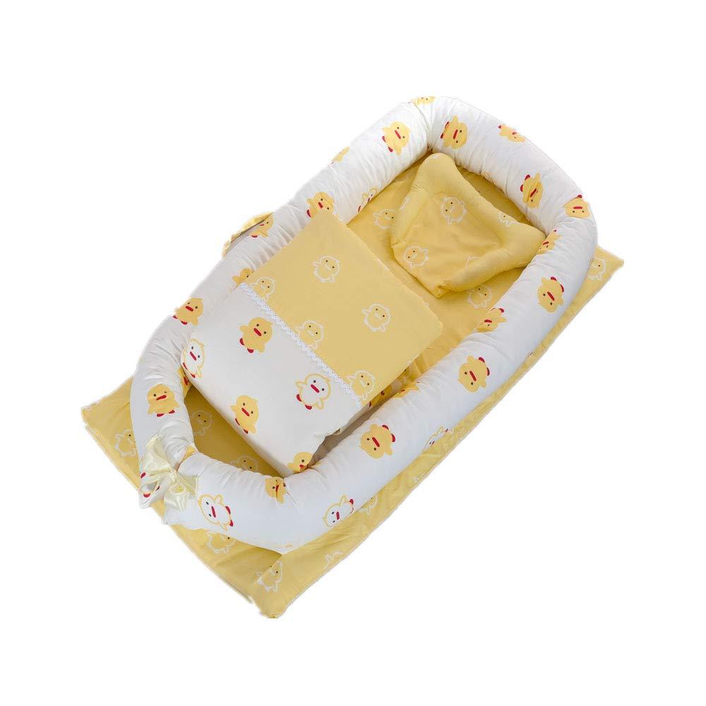 Baby Nest, Wasyoh Baby Newborn Bassinet Travel Sleeping Breathable Soft Nest Cushion - 0-24 Months Safety Infant Lounger - Organic Cotton/Washable (White Bear)