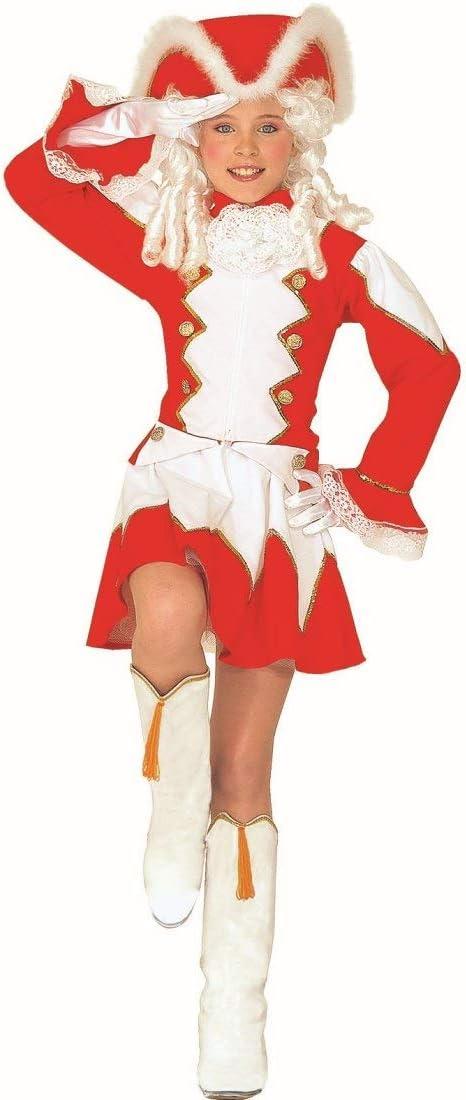 NET TOYS Disfraz Infantil de Majorette   Rojo-Blanco en Talla 111 ...