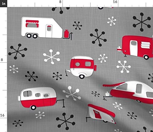 Spoonflower Atomic Fabric - Vintage Retro 1950S Campers, used for sale  Delivered anywhere in USA