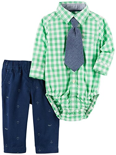 Carter's Baby Boys' 3 Pc Sets 120g120, Green, 18M