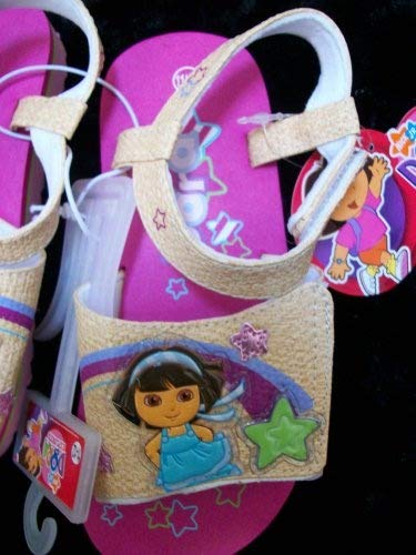 (Nick Jr Dora the Explorer Kid Size 11-12 Shoes/sandles, Great for Halloween)