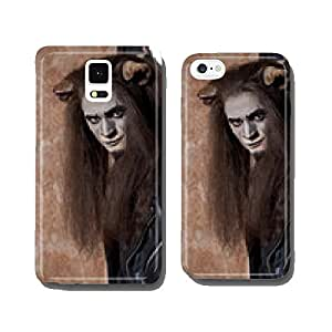 Male face of a Lion man in dark cell phone cover case Samsung S6