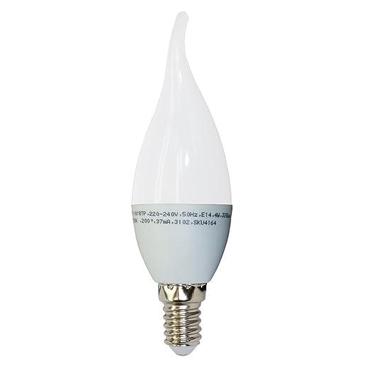52 opinioni per 20-pezzi Lampadina LED Candela fiamma- Casquillo E14- Potenza 4W (sostituisce 30