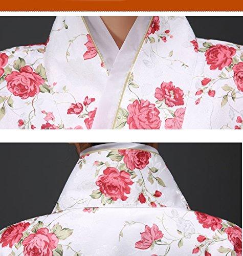 Costume Unica Taglia Dona Kimono rossi Colori 3 Floreale Fiori YueLian Giapponese UxF6q1