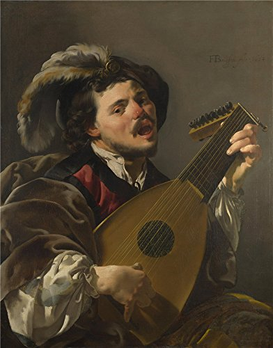 Doll Wig Antique (Perfect Effect Canvas ,the Reproductions Art Decorative Prints On Canvas Of Oil Painting 'Hendrick Ter Brugghen A Man Playing A Lute ', 24 X 31 Inch / 61 X 78 Cm Is Best For Kids Room Artwork And Home Decor And Gifts)