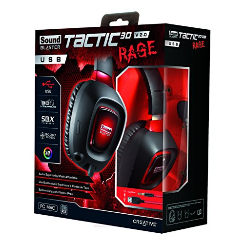 Creative Sound Blaster Tactic3D Rage USB Gaming Headset v2 by Creative (Image #2)