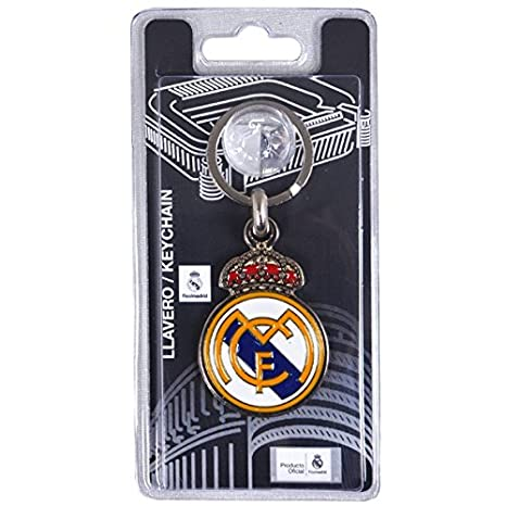 Amazon.com: Real Madrid F.C. – Llavero con escudo: Sports ...