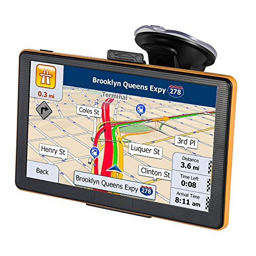 GPS Navigation for Car 7 Inch 8GB Touch Screen GPS Navigation System Preload 2018 North America Map with Lifetime Free America & EU Maps (Best Navigation System For Europe)