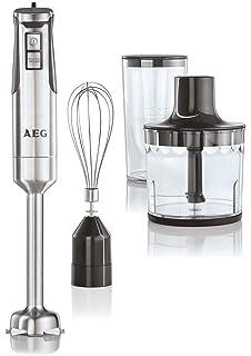 AEG STM7500S - Batidora de mano con doble cuchilla revestida de titanio, color gris