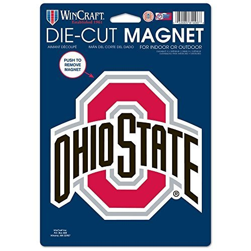WinCraft NCAA Ohio State University 81803014 Die Cut Logo Magnet, Small, Black