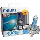 PHILIPS(フィリップス)  ヘッドライト ハロゲン バルブ H4 4300K  12V 60/55W クリスタルヴィジョン CrystalVision 輸入車対応 2個入り CV-H4-2