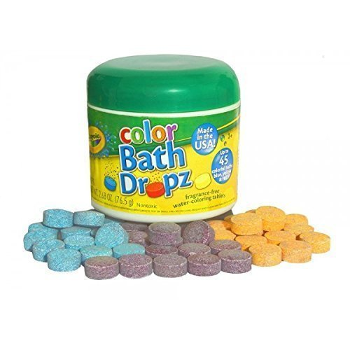 (Crayola Color Bath Dropz 2.68 oz 45 Tablets)
