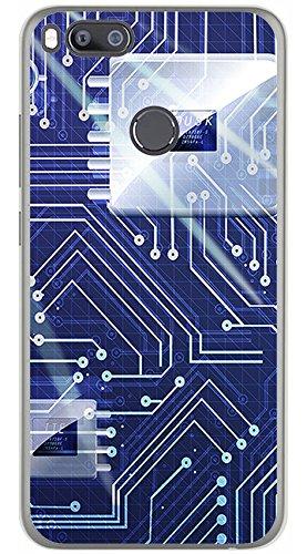 Tumundosmartphone Funda Gel TPU para XIAOMI MI 5X / MI A1 diseño Circuito Dibujos