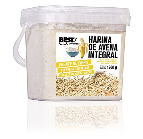 Best Protein Harina de Avena Yogur Banana - 1900 gr: Amazon.es ...