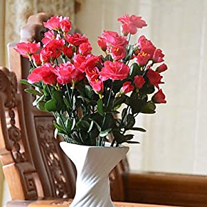 CLG-FLY Artificial Flower Bright Color Rhododendron Silk Flower for Wedding and Decorative792 4