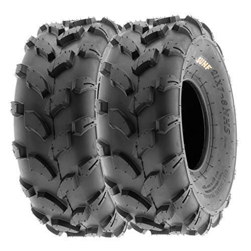 SunF 19x7-8 19x7x8 ATV UTV All Terrain Trail Replacement 6 PR Tubeless Tires A003, [Set of 2]