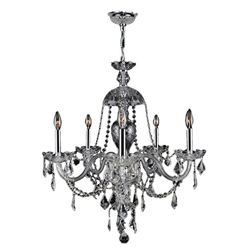 Light Candle Chandelier Finish (Brilliance Lighting and Chandeliers Venetian Italian Style 7-light Chrome Finish Crystal Candle Chandelier)