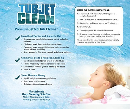 Jetted Tub Cleaner - Easy, Safe, Concentrated Self Cleaning Bath Tub Jet...