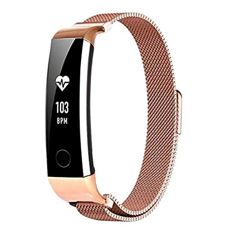 Oucan Milanese Magnetic Loop Stainless Steel Band Strap Bracelet For Huawei Honor 3