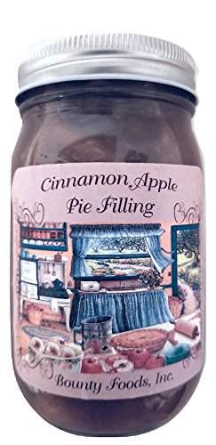 Cinnamon Apple Pie Filling 20 oz Montana Grown Granny Smith Apples from Bounty Foods this is Vegan Friendly | Gluten Free | Non-GMO Best for Pies Cobblers also use for Toppings | Desserts (Apl 20 oz)