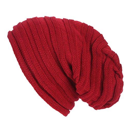 WanYang las del Mujeres Beanie para Tejer Caps Vino Invierno Unisex Warm Crochet OqpOr