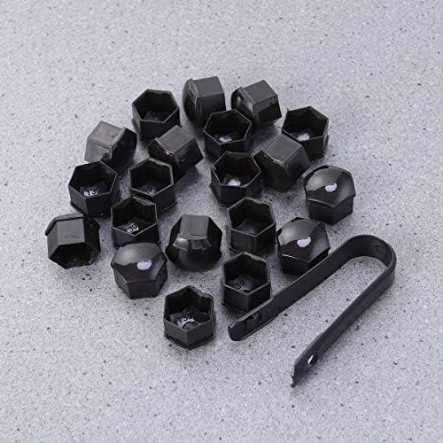 ZOZOSEP 20 Pezzi 19 mm con Strumento di rimozione per Tappi Copri bulloni Dadi Dadi Ruota in plastica Auto Rossa