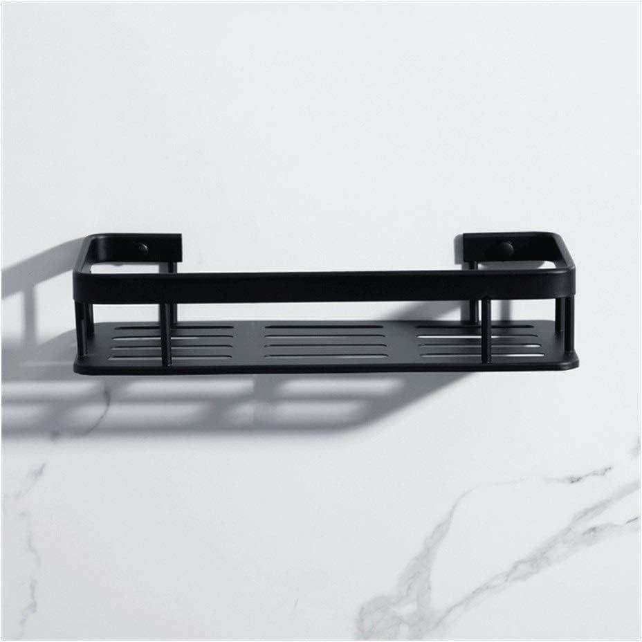 Toallero Estante de la esquina de almacenamiento de baño Estantes del sostenedor de aluminio del baño de ducha cesta montado en la pared de la cocina de 3 gradas Accesorios Cuadrados ( Size : 1tier )