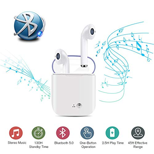 Bluetooth Wireless Headset, TWS Wireless Headset Earbuds,Stereo Music Headset for All Smartphones ...