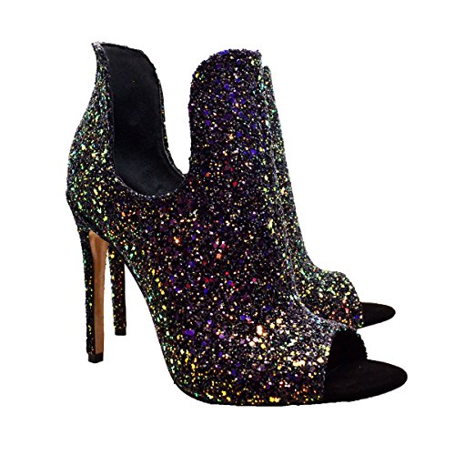 Janiko Paris Dream Toes R1034 Glitter Peep Damen rwqF0Cr