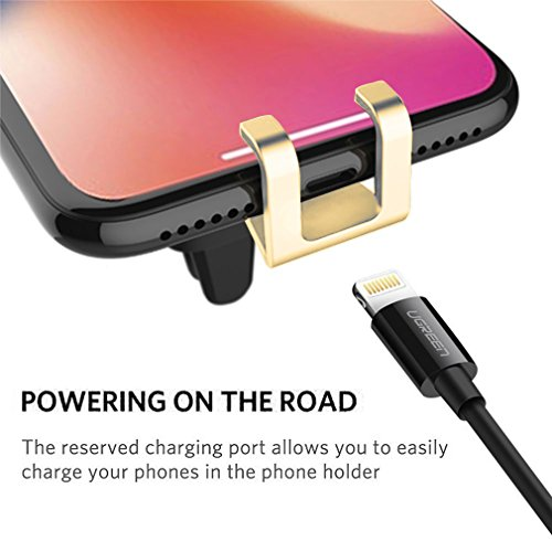 First2savvv Car Cell Phone Holder - Gravity auto Lock Hands-Free Mobile Phone Holder for Car, Air Vent Car Phone Mount for iPhone X/8/7/7Plus/6s/6Plus, Samsung Galaxy/S9/S8/S7/S6/Note etc.CAR-ZL-A15 by first2savvv (Image #2)